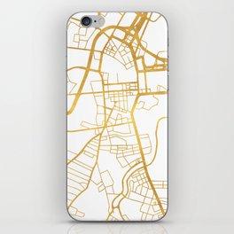 BELFAST UNITED KINGDOM CITY STREET MAP ART iPhone Skin