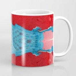 Red Stream Marble Painting Coffee Mug