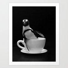 Penguin Tea Party Art Print