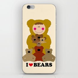 I♥BEARS iPhone Skin