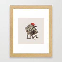 Japanese Crane Framed Art Print