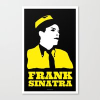 frank sinatra Canvas Prints featuring FRANK SINATRA by zzglam