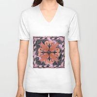 flamingos V-neck T-shirts featuring Flamingos  by Galvanise The Dog