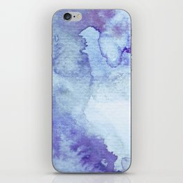 Blue Watercolor Background iPhone Skin