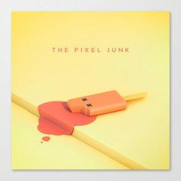 The pixel junk Canvas Print