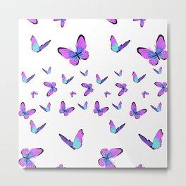 Purple butterflies wallpaper Metal Print