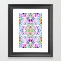 Wildflower kaleidoscope Framed Art Print