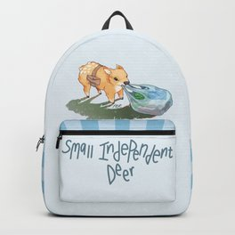 small independent deer — text Backpack