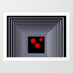 red white black -13- Art Print
