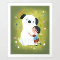 best friends Art Prints featuring Best Friends by Greg Abbott