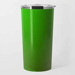 Greeting card of green lines made from smoke on a green background. Travel Mug