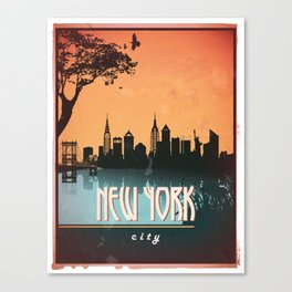 Vintage Collection - New York Canvas Print