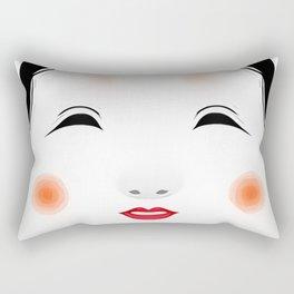 Japanese Mask - Okame Rectangular Pillow