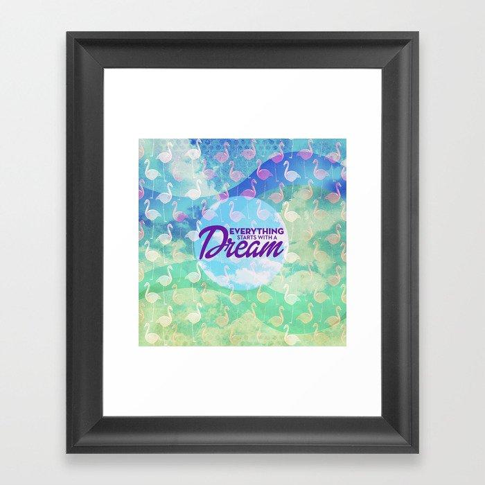 Flamingo Dream Framed Art Print