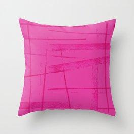 A hot pink mess Throw Pillow