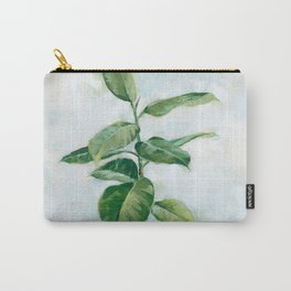Houseplant Painting of Rubber Tree Carry-All Pouch