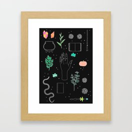 Witch Starter Kit: Potion - Illustration Framed Art Print