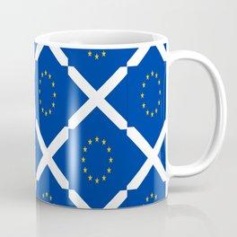 Mix of flag: UE and scotland Coffee Mug