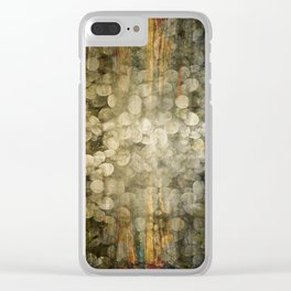 """""""Abstract golden river pebbles"""" Clear iPhone Case"""