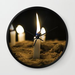 Candle in the Wind Wall Clock