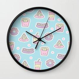 Kawaii Junk Food Wall Clock
