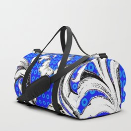 WHITE BUTTERFLIES FLUTTERING WITH BAROQUE FLORAL Duffle Bag