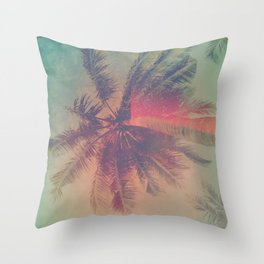 NEON SUMMER Throw Pillow
