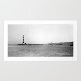 Lighthouse in the desert Art Print