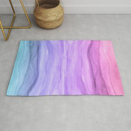 Abstract Watercolor Layers - Purple Ombre Rug
