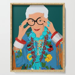 Iris Apfel Serving Tray