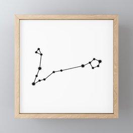 Pisces Star Sign Black & White Framed Mini Art Print
