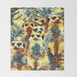 AnimalArt_Meerkat_20170604_by_JAMColorsSpecial Throw Blanket