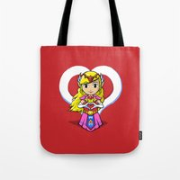 hyrule Tote Bags featuring Hyrule BFFs II by Jango Snow
