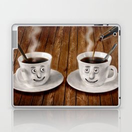 Hot Coffee Time in the Kitchen Laptop & iPad Skin