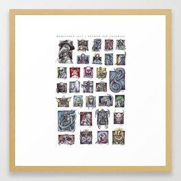Monster Compilation Framed Art Print