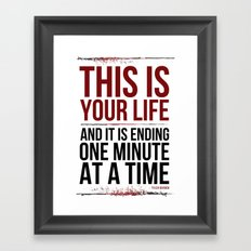 Fight Club - This is Your Life... Framed Art Print