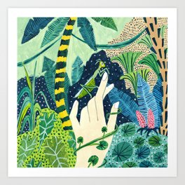 Jungle Praying Mantis Art Print