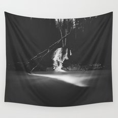 Minimalistic black and white waterfall Wall Tapestry