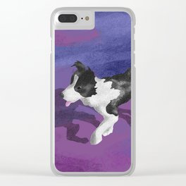 Purple Dog Park Clear iPhone Case
