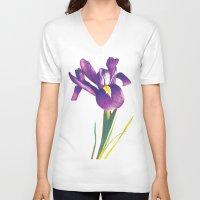 iris V-neck T-shirts featuring Iris by Matt McVeigh