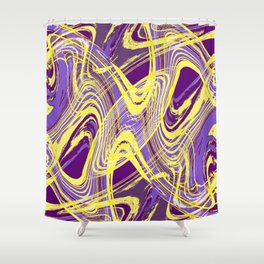 Yellow and Purple Dancing the Tango Shower Curtain