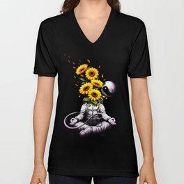 Meditation Astronaut Spring Unisex V-Neck