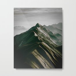 Peaks on a Mountain ridge Metal Print
