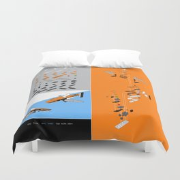 LEGO SHARK drawing Duvet Cover
