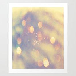 aqua blue, pink, cream, modern artwork, colored bokeh, circles, joy, braille, Art Print