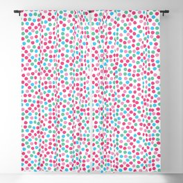 Bright geometric tiny polka dot seamless pattern. Blackout Curtain