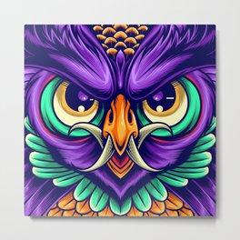 Demon Owl Metal Print