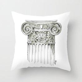 """Column"" Throw Pillow"