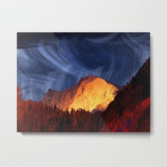 the rock at sunset Metal Print