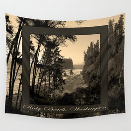 ruby beach, wa, usa old school (2x square) Wall Tapestry
